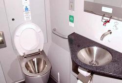 ห้องน้ำในขบวนรถไฟ